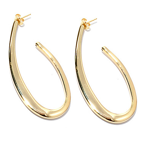 133-210 - Portofino Gold Embraced™ 2.5'' Elongated J-Hoop Earrings