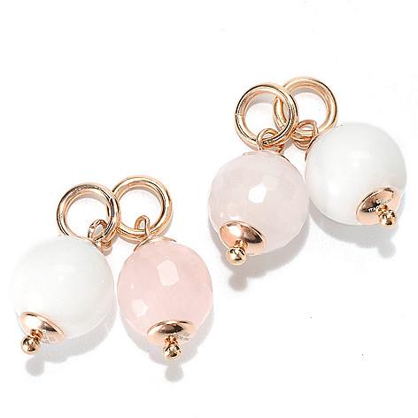 133-214 - Portofino 18K Gold Embraced™ Set of Four 10mm Interchangeable Gem Charm Beads
