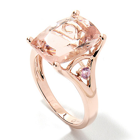 133-225 - Gem Treasures 14K Rose Gold 6.07ctw Morganite & Pink Sapphire Split Shank Ring