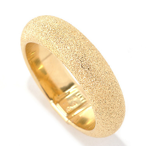 133-256 - Italian Designs with Stefano 14K Gold Sandblasted Band Ring
