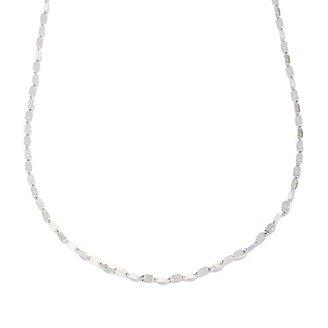 133-257 - Italian Designs with Stefano Platinum Fancy Oval Link Necklace