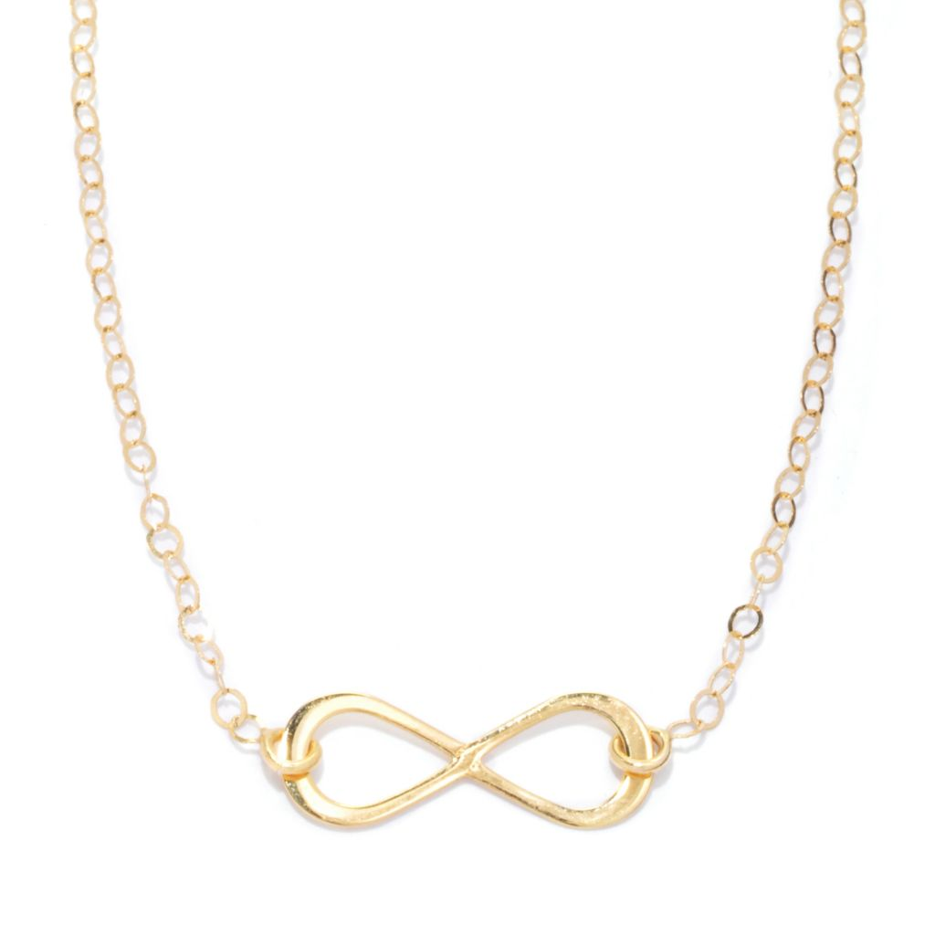 "133-259 - Italian Designs with Stefano 14K Gold 18"" Infinity Symbol Necklace"