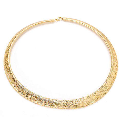 133-264 - Italian Designs with Stefano 14K Gold 18'' Omega Stretch Necklace