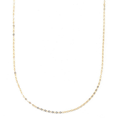 133-268 - Italian Designs with Stefano 14K Gold Polished Fancy Oval Link Chain Necklace