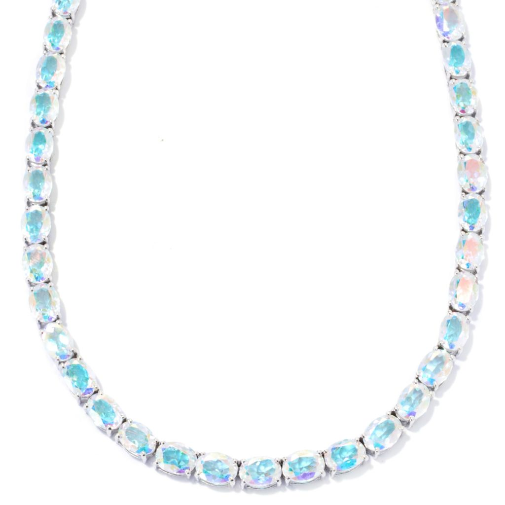 "133-329 - NYC II 20"" Oval Opalescence Topaz Tennis Necklace"