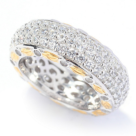 133-344 - RITANI™ Romantique Collection Two-tone 2.55 DEW Simulated Diamond Eternity Band Ring