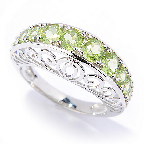 133-467 - Gem Insider Sterling Silver 1.96ctw Peridot Graduated Cut-out Ring