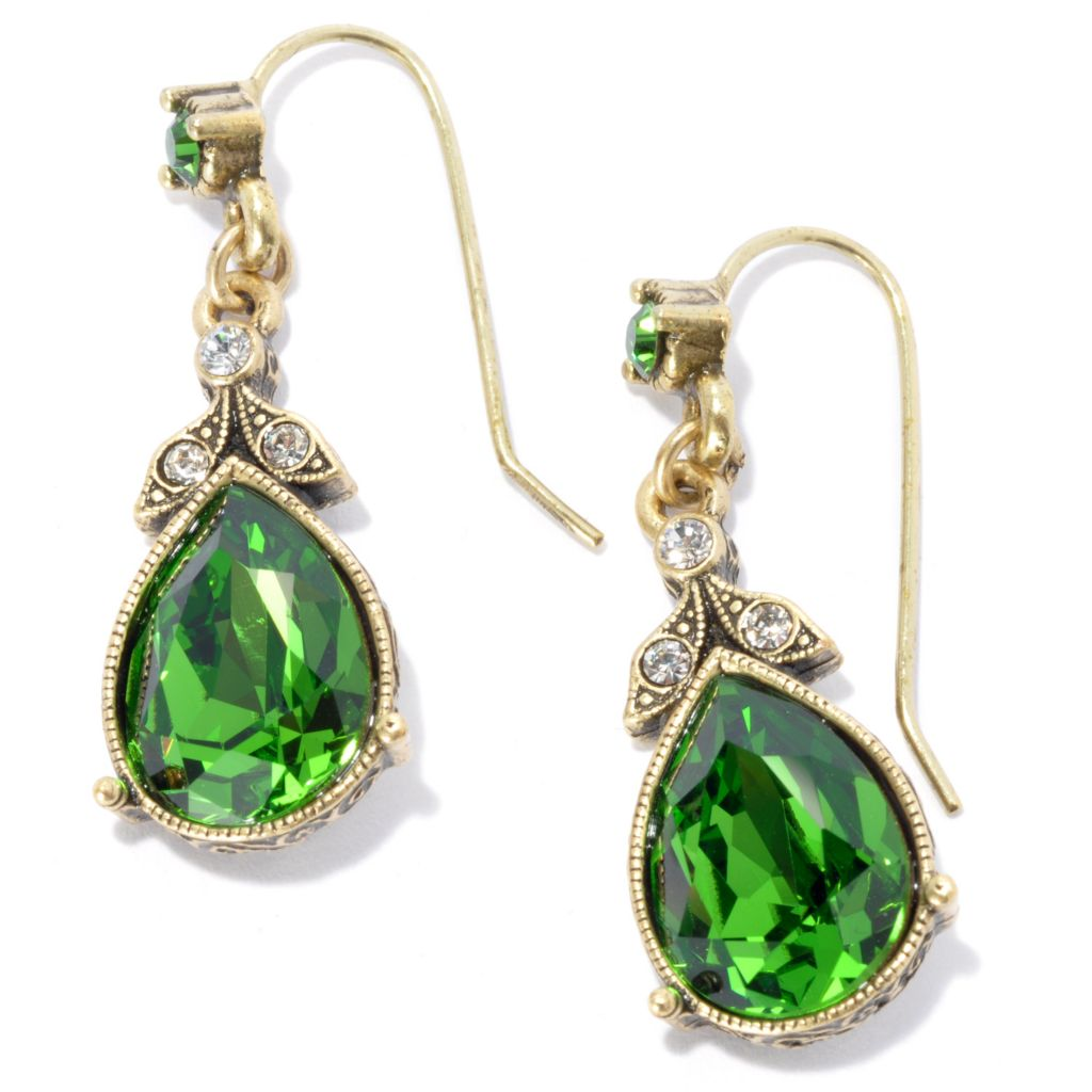 "133-484 - Sweet Romance™ 1.25"" Crystal French Lavaliere Teardrop Earrings"
