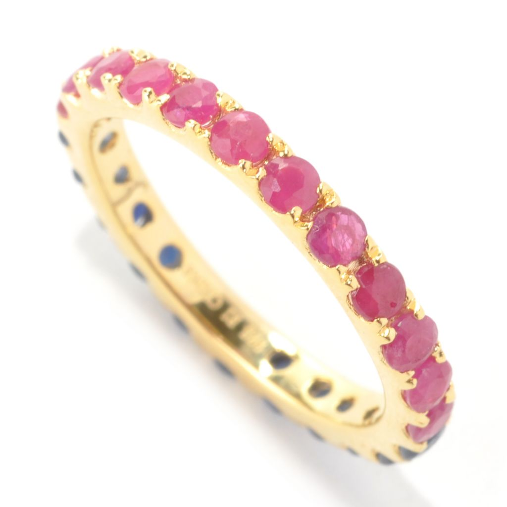 133-515 - NYC II 1.76ctw Ruby & Sapphire Double-Sided Eternity Band Ring