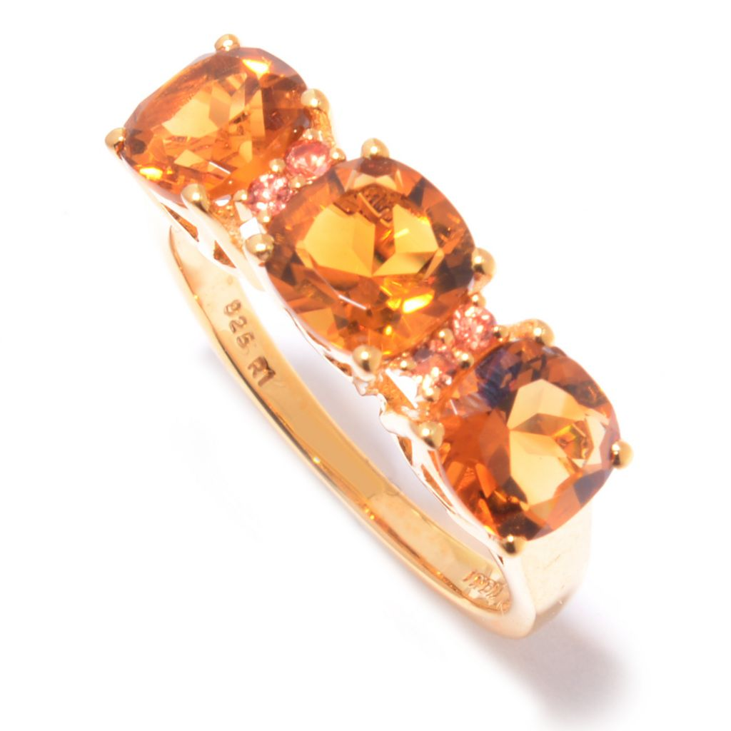 133-516 - NYC II Cushion Cut Gem Three-Stone Stack Band Ring