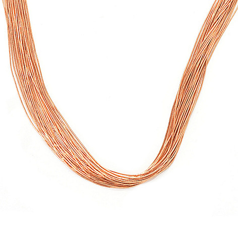 133-554 - Elements by Sarkash Copper 24'' Heishi Bead Multi Strand Necklace
