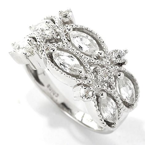 133-579 - NYC II 1.80ctw White Zircon & Diamond Band Ring