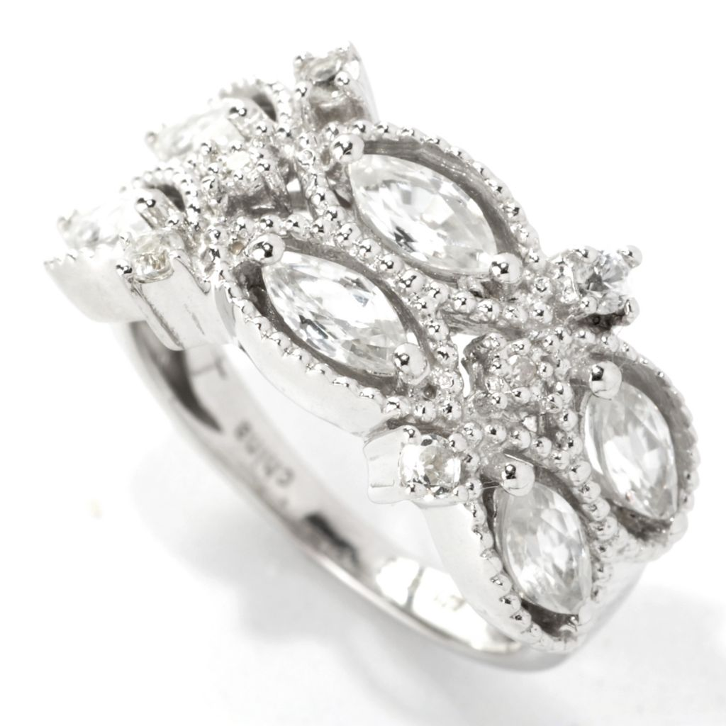 133-579 - NYC II 1.80ctw White Zircon & Diamond Band Ring