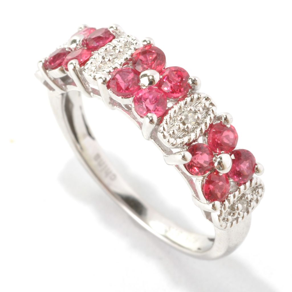 133-583 - NYC II Red Spinel & Diamond Polished Band Ring