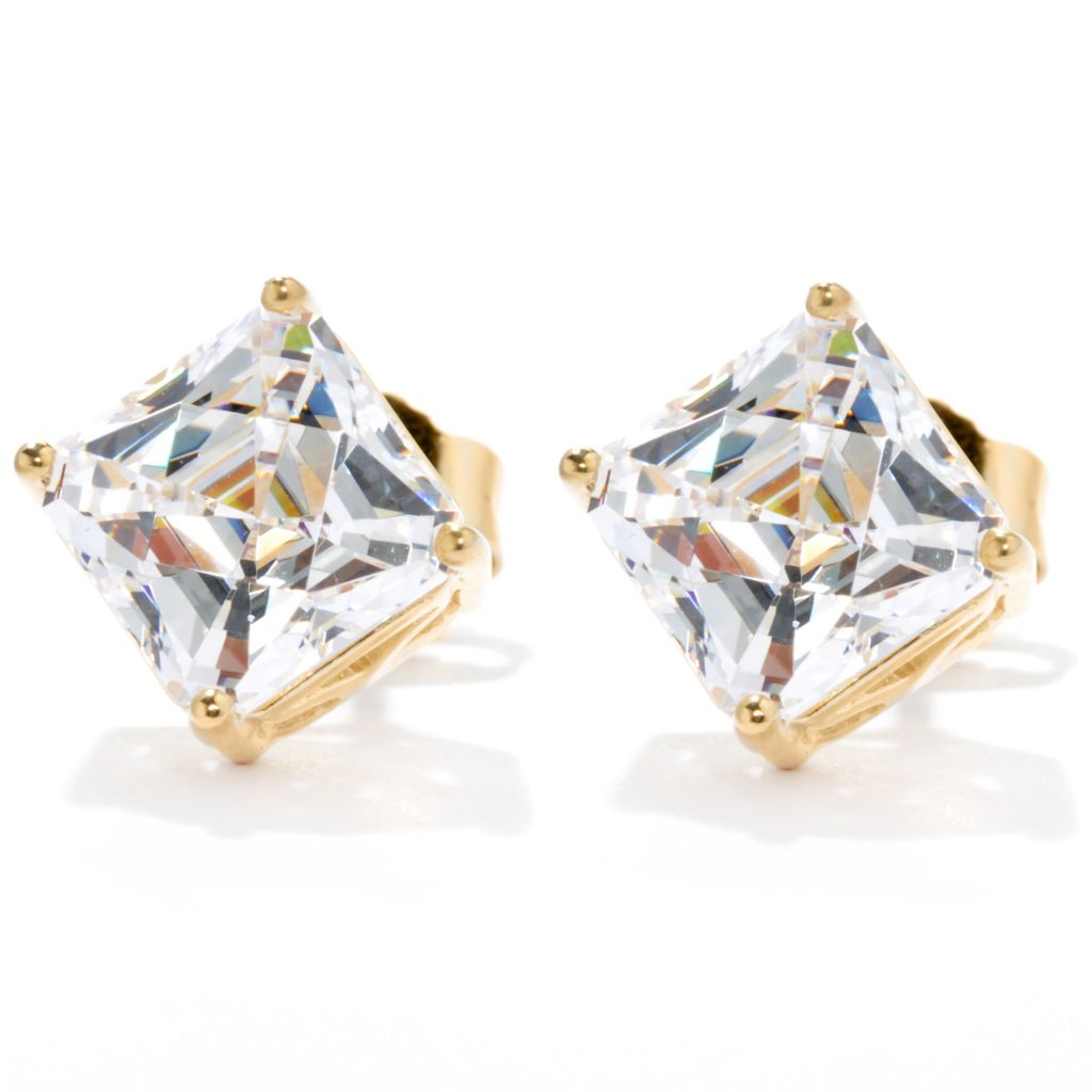 133-628 - TYCOON 3.96 DEW Royal TYCOON CUT Simulated Diamond Stud Earrings