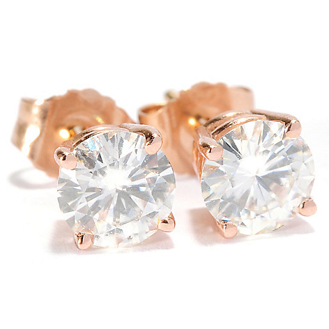 133-684 - Forever Brilliant® Moissanite 14K Gold Brilliant Cut Stud Earrings
