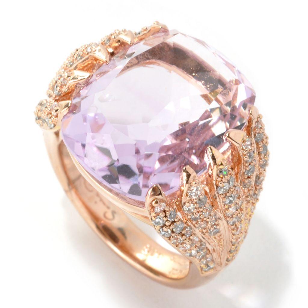133-705 - Sonia Bitton Genuine Gemstone & Simulated Diamond Hugging Vines Ring