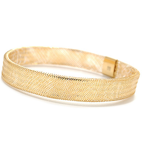 133-751 - Viale18K® Italian Gold 7.5'' Polished Stretch Mesh Bracelet