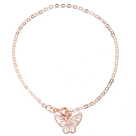 133-821 - Italian Designs with Stefano 14K Gold Madame Butterfly Bracelet