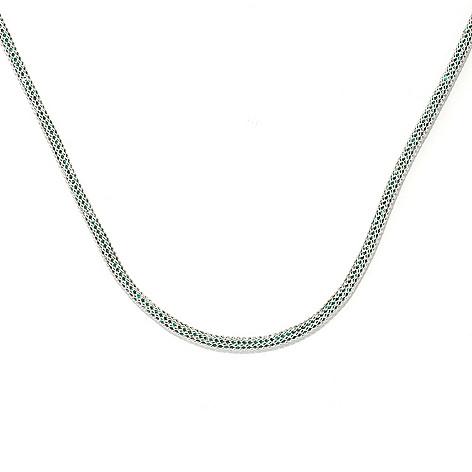 133-849 - Dallas Prince Sterling Silver Mesh Necklace Made w/ Swarovski® Elements