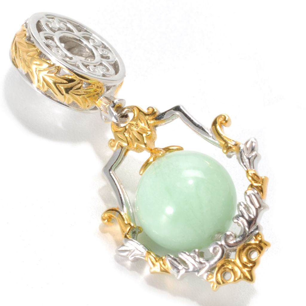 133-863 - Gems en Vogue 10mm Green Amazonite Bead Drop Charm