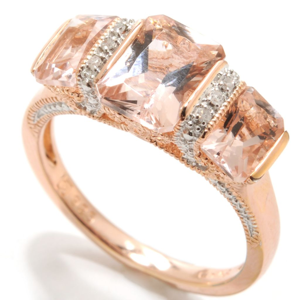 133-895 - NYC II 1.88ctw Tension Set Morganite & Diamond Ring