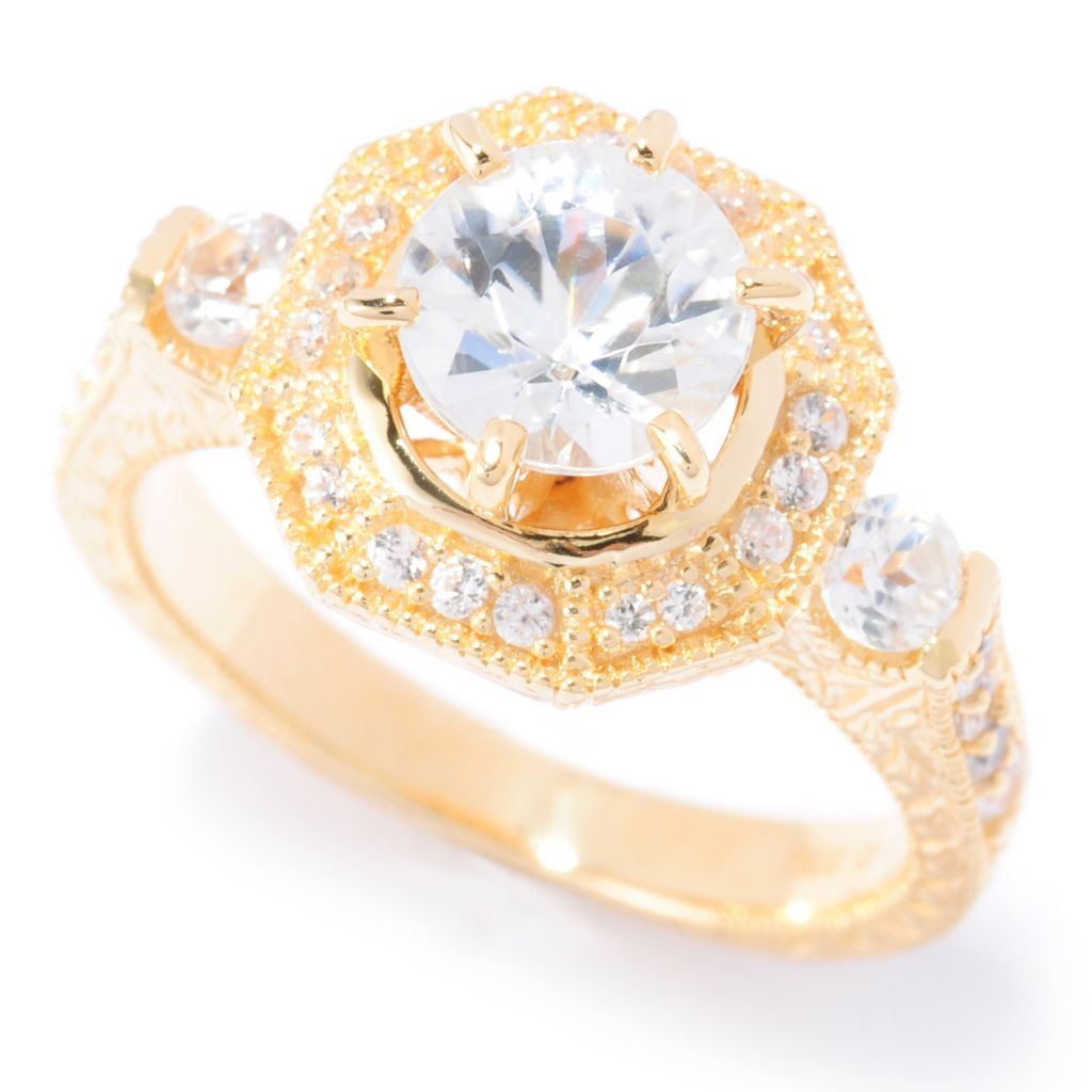 133-902 - NYC II 2.61ctw White Zircon Milgrain Halo Ring