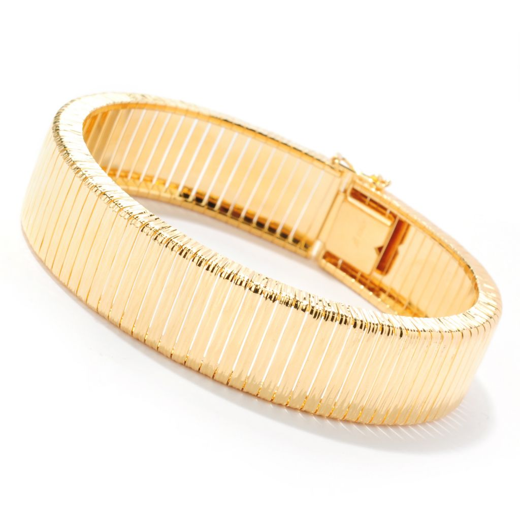 "133-908 - Toscana Italiana Gold Embraced™ 7.5"" Textured Cleopatra Bracelet"