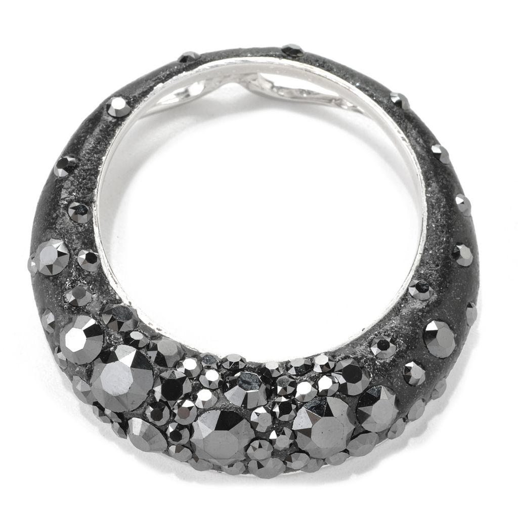133-925 - Adaire™ Sterling Silver Circle Pendant Made w/ Swarovski® Elements