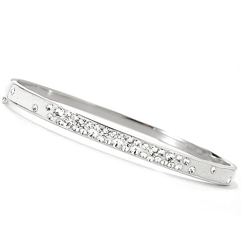 133-928 - Adaire™ Sterling Silver Bangle Bracelet Made w/ Swarovski® Elements