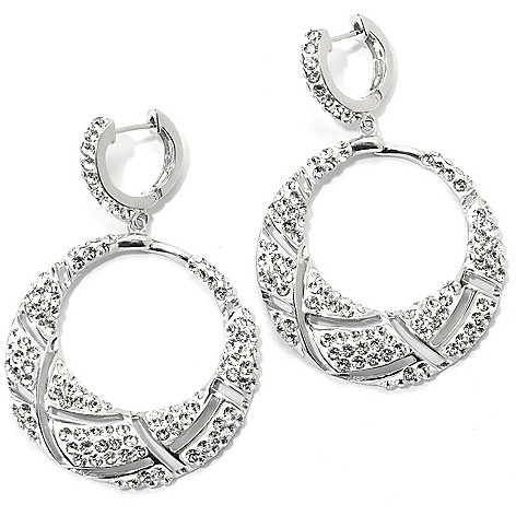 133-932 - Adaire™ 2'' Sterling Silver Hoop Earrings Made w/ Swarovski® Elements