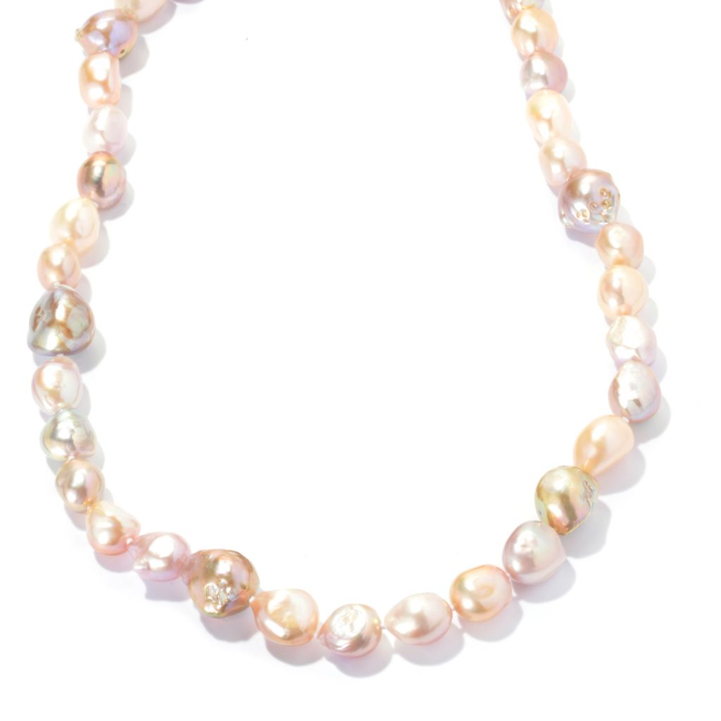 "133-959 - 36"" 11.5-17mm Natural Colored Baroque Freshwater Cultured Pearl Endless Necklace"