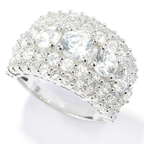 134-019 - NYC II 6.41ctw White Zircon Five-Row Band Ring