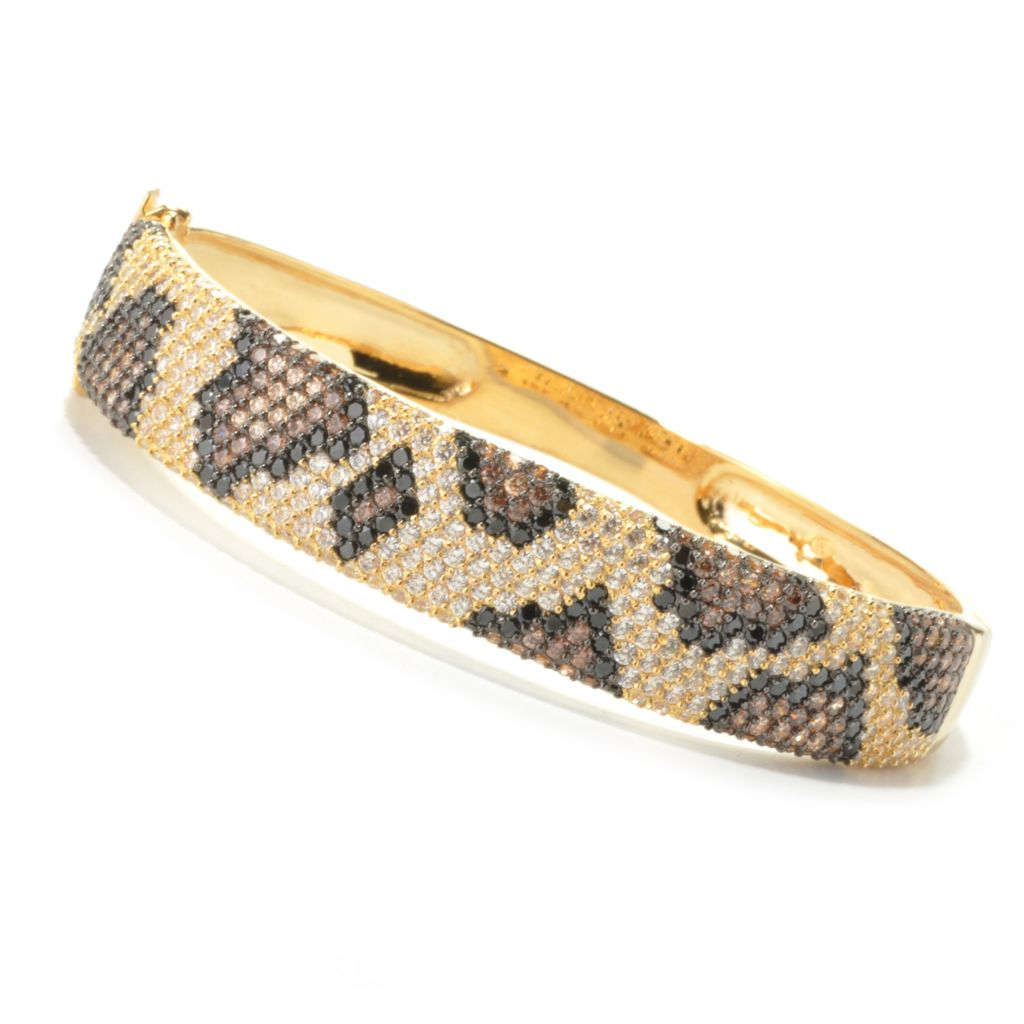 134-077 - Neda Behnam Simulated Gemstone Python Print Bangle Bracelet