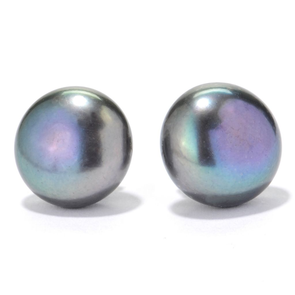 134-080 - Sterling Silver 13-14mm Freshwater Cultured Pearl Stud Earrings