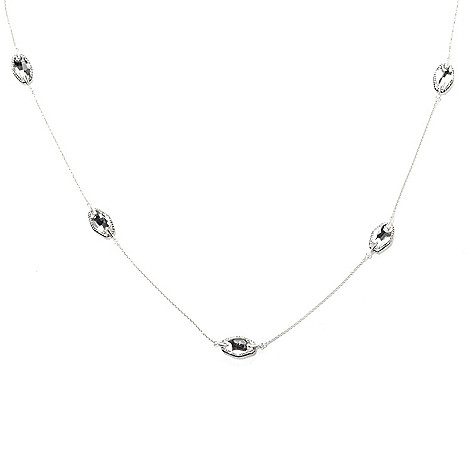 134-106 - Adaire™ 36'' Sterling Silver Station Necklace Made w/ Swarovski® Elements