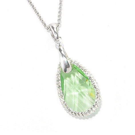 134-107 - Adaire™ Sterling Silver Teardrop Pendant Made w/ Swarovski® Elements