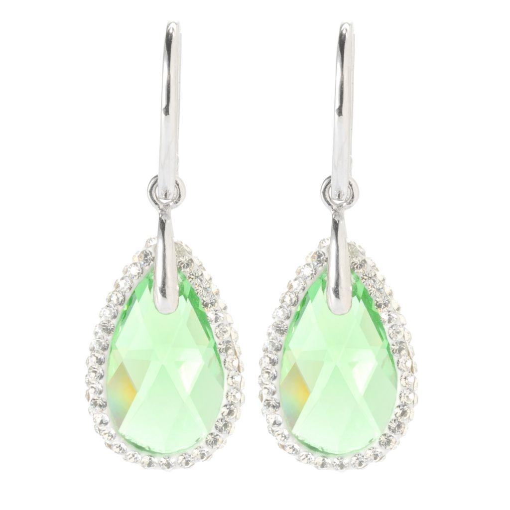 """134-108 - Adaire™ 1.25"""" Sterling Silver Teardrop Earrings Made w/ Swarovski® Elements"""