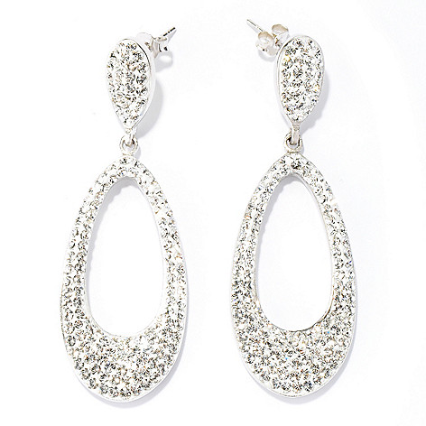 134-110 - Adaire™ 2.5'' Sterling Silver Dangle Earrings Made w/ Swarovski® Elements