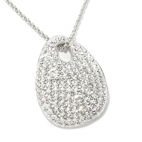 134-111 - Adaire™ Sterling Silver Oval Pendant Made w/ Swarovski® Elements