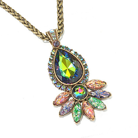 134-183 - Sweet Romance™ 25'' Multi Color Crystal & Glass Drop Necklace w/ 4'' Extender