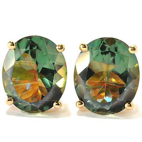 134-234 - NYC II 7.40ctw Oval Quartz Stud Earrings
