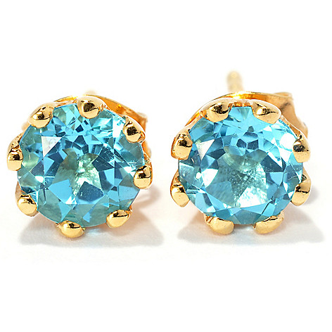 134-264 - NYC II 6mm Round Gemstone Stud Earrings