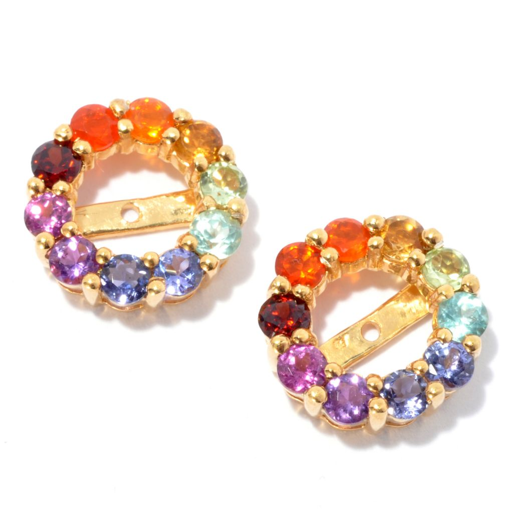 134-265 - NYC II 1.18ctw Exotic Rainbow Multi Gemstone Earring Jackets