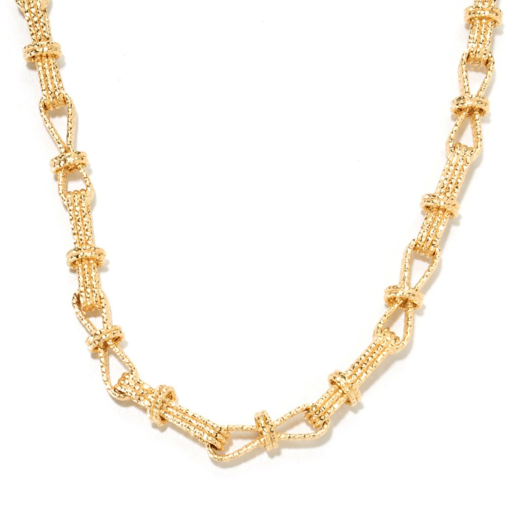 "134-423 - Scintilloro™ Gold Embraced™ 18"" Figure-Eight Status Link Necklace"