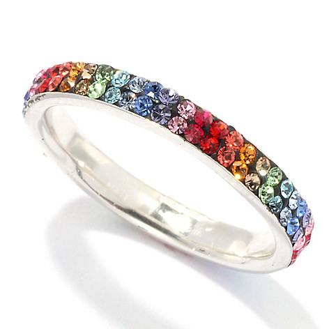 134-460 - Adaire™ Sterling Silver Eternity Band Ring Made w/ Swarovski® Elements