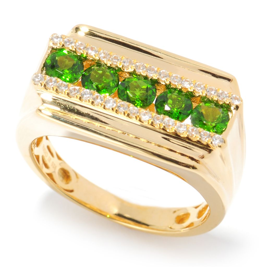 134-472 - NYC II Men's 1.77ctw Chrome Diopside & White Zircon Five-Stone Ring
