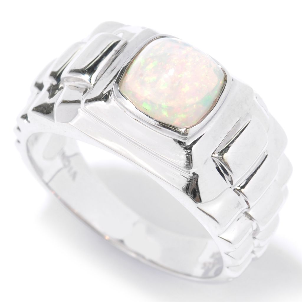 134-474 - NYC II Men's Cushion Shaped Ethiopian Opal Ring