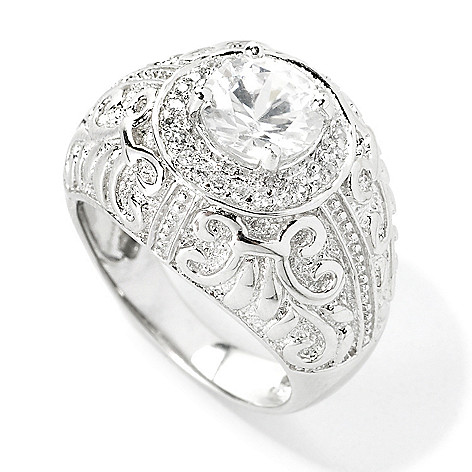 134-478 - NYC II 2.23ctw White Zircon Textured Etruscan Ring