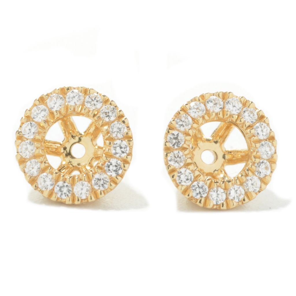 134-494 - NYC II Pave Set White Zircon Earring Jackets